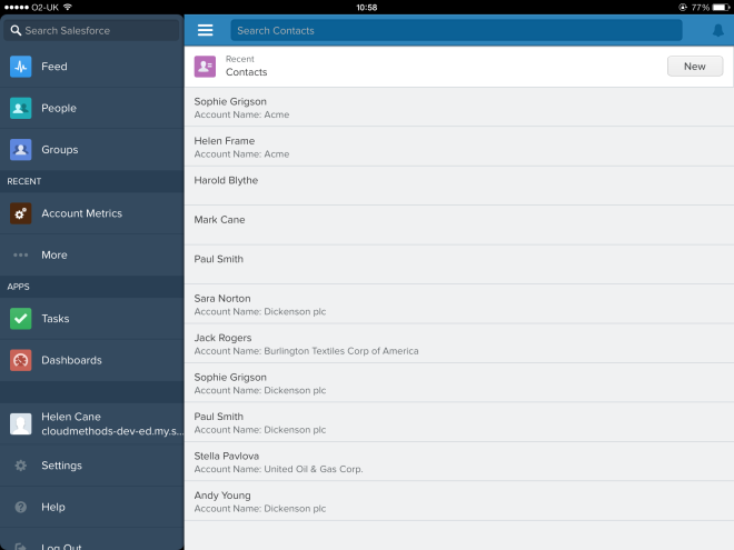 Salesforce1 Tablet