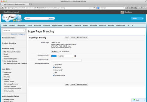 9. Salesforce Login Page Customisation