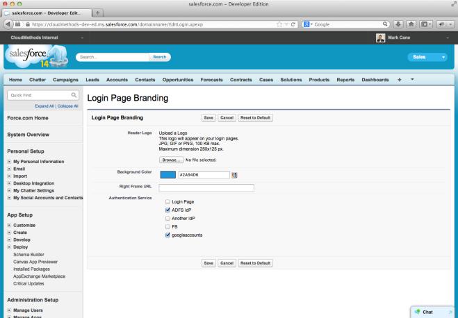 9. Salesforce Login Page Customisation