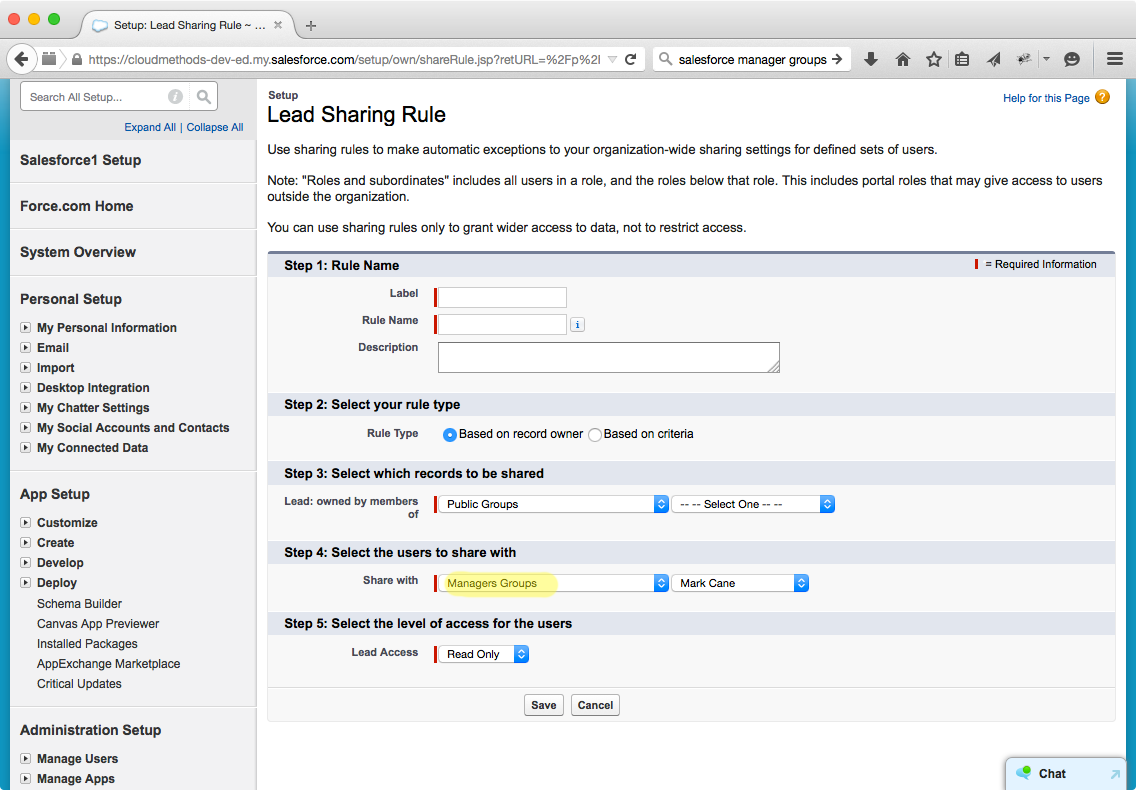 sharing rules in salesforce pdf